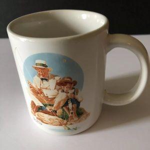 Vintage 1987 Norman Rockwell Coffee Mug